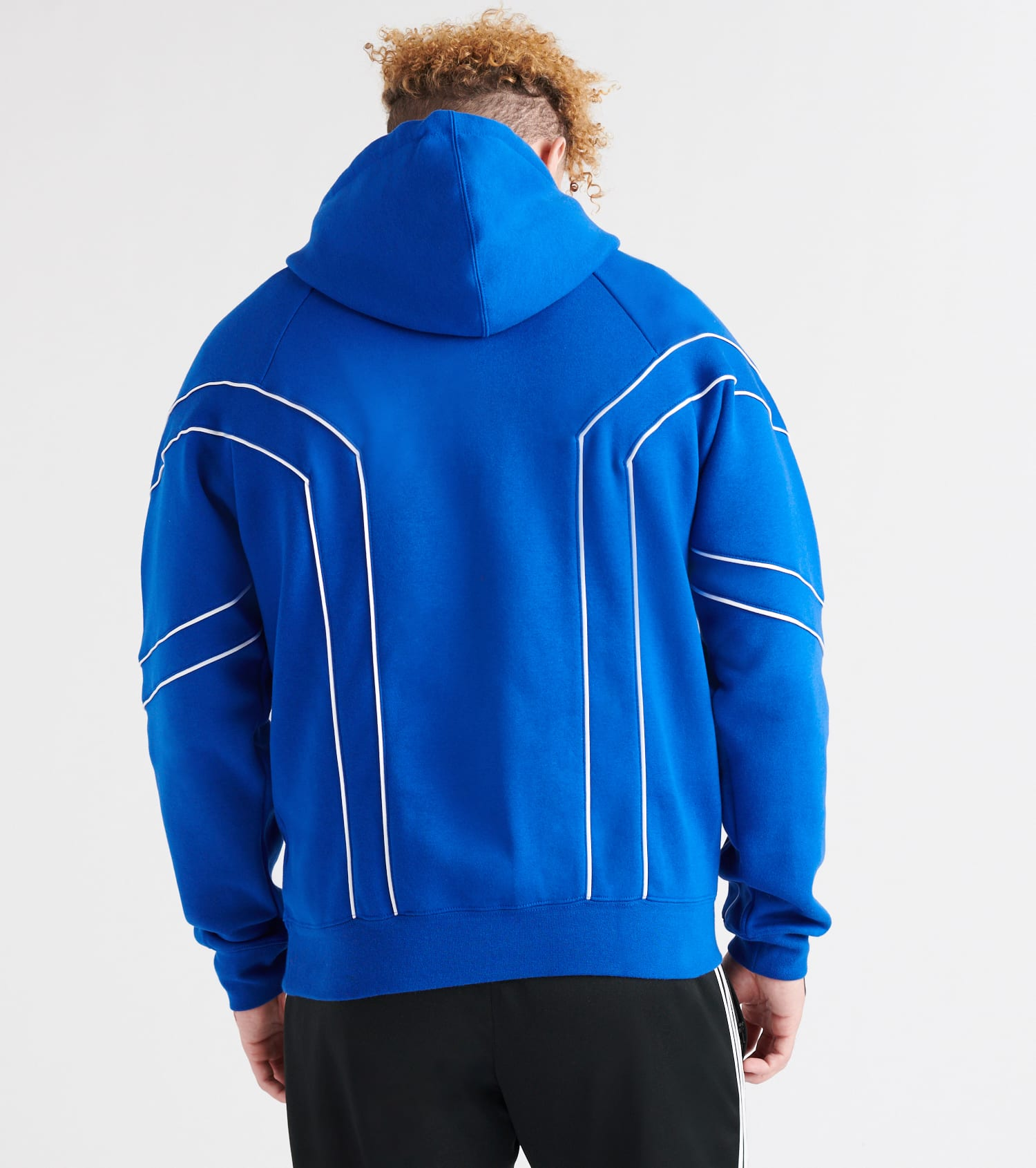 NEW ADIDAS ROYAL COLLEGIATE BLUE EQT OUTLINE FLEECE HOODIE SWEATER SWEATSHIRT
