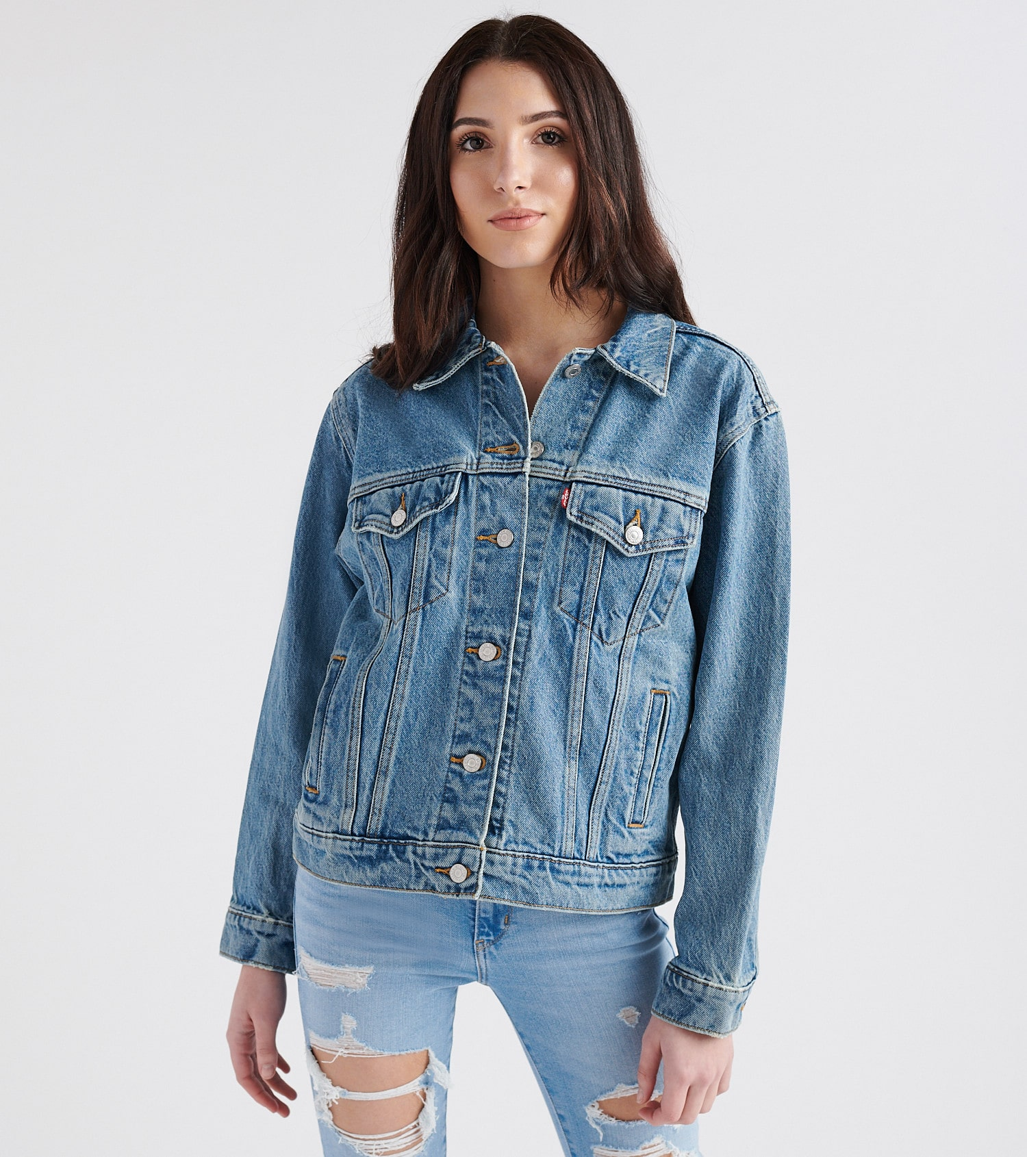 Women Jackets Levi's® BOYFRIEND TRUCKER Denim jacket