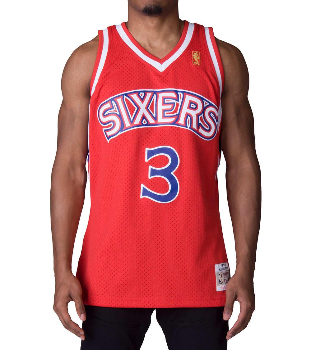 best sneakers 5f2ad 7edb4 76ers Allen Iverson Swingman Jersey