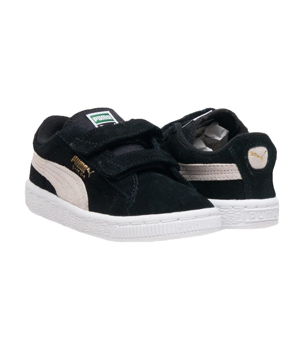 Puma Suede 2 Straps Preschool | Black | Sneakers | 359595 01