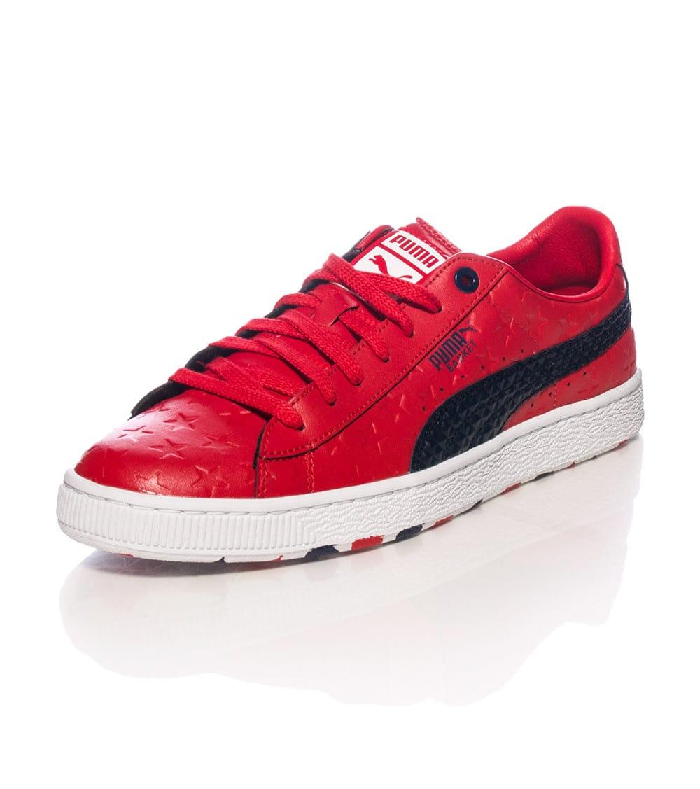 Basket Classic Stars Sneaker Puma Basket Red Shoes
