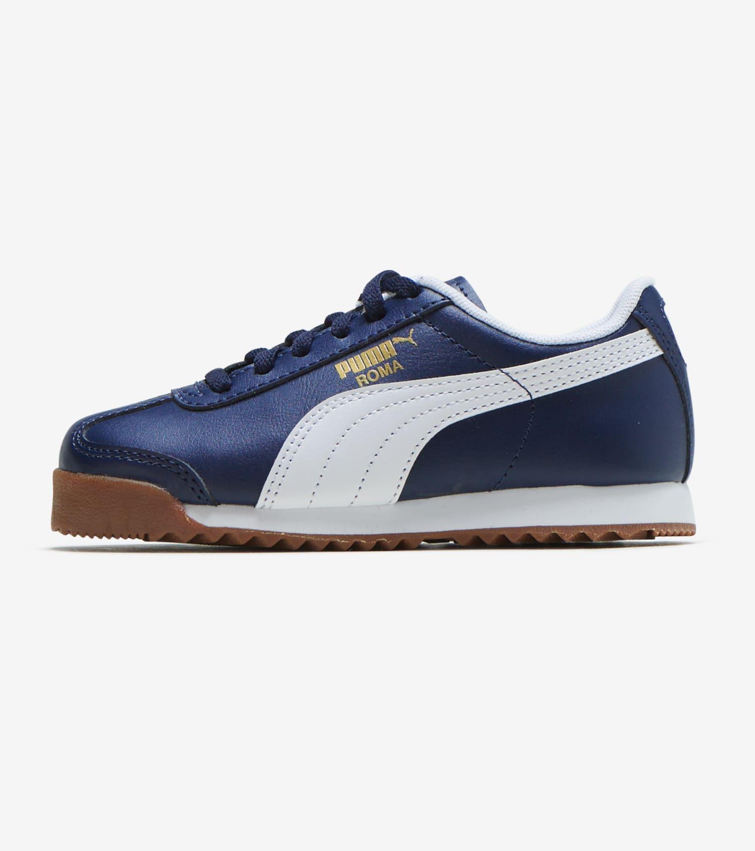 Billige Puma Schuhe Puma Roma Basic Navy Gold Schwarz