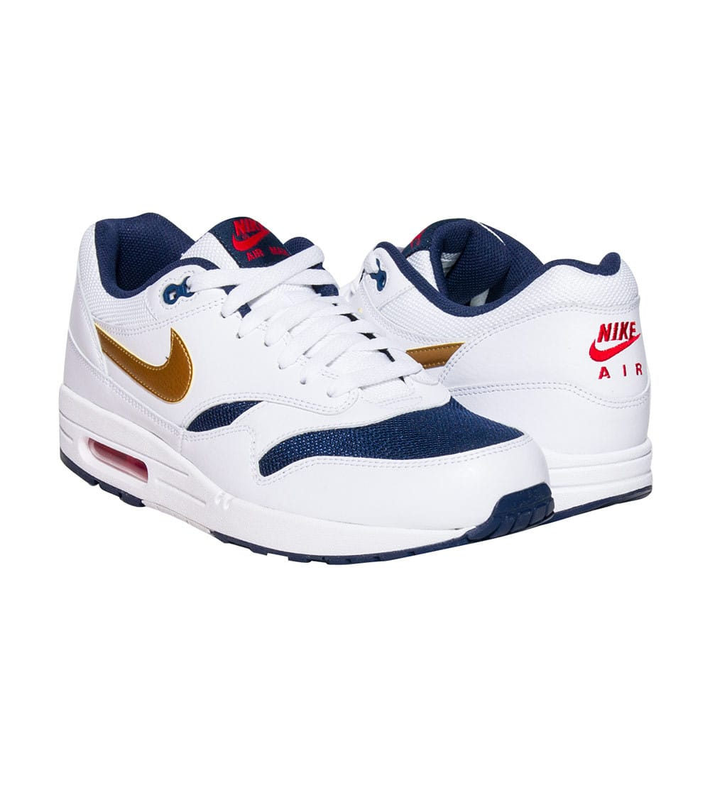 Nike Air Max 1 Essential USA 537383 127 White Blue Mens Shoes Size 11