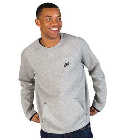 NIKE SPORTSWEAR TECH FLEECE CREW SWEATSHIRT (Grey) 545163063 | Jimmy Jazz