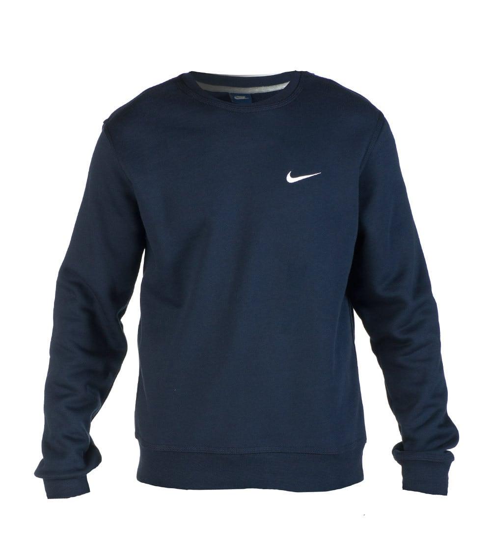 Nike Herren Club Swoosh Crew Fleece Sweatshirt, schwarz
