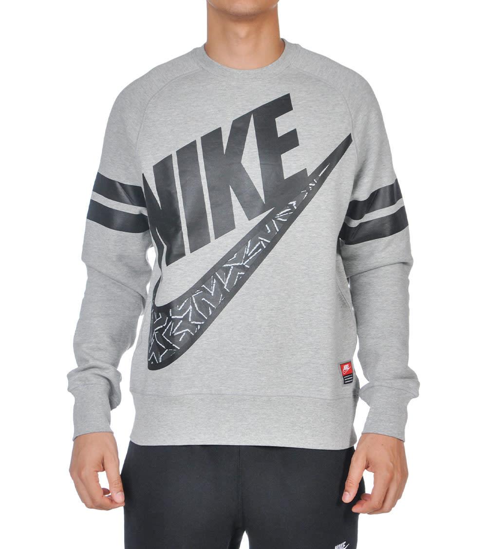 Shop Nike black Aw77 Fleece Hybrid Hoodie 678532 010 for Men