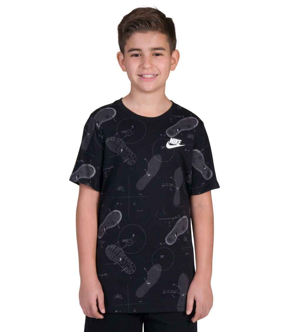 Nike Boys Shoe Print T Shirt, Boys', T Shirt Shoeprint