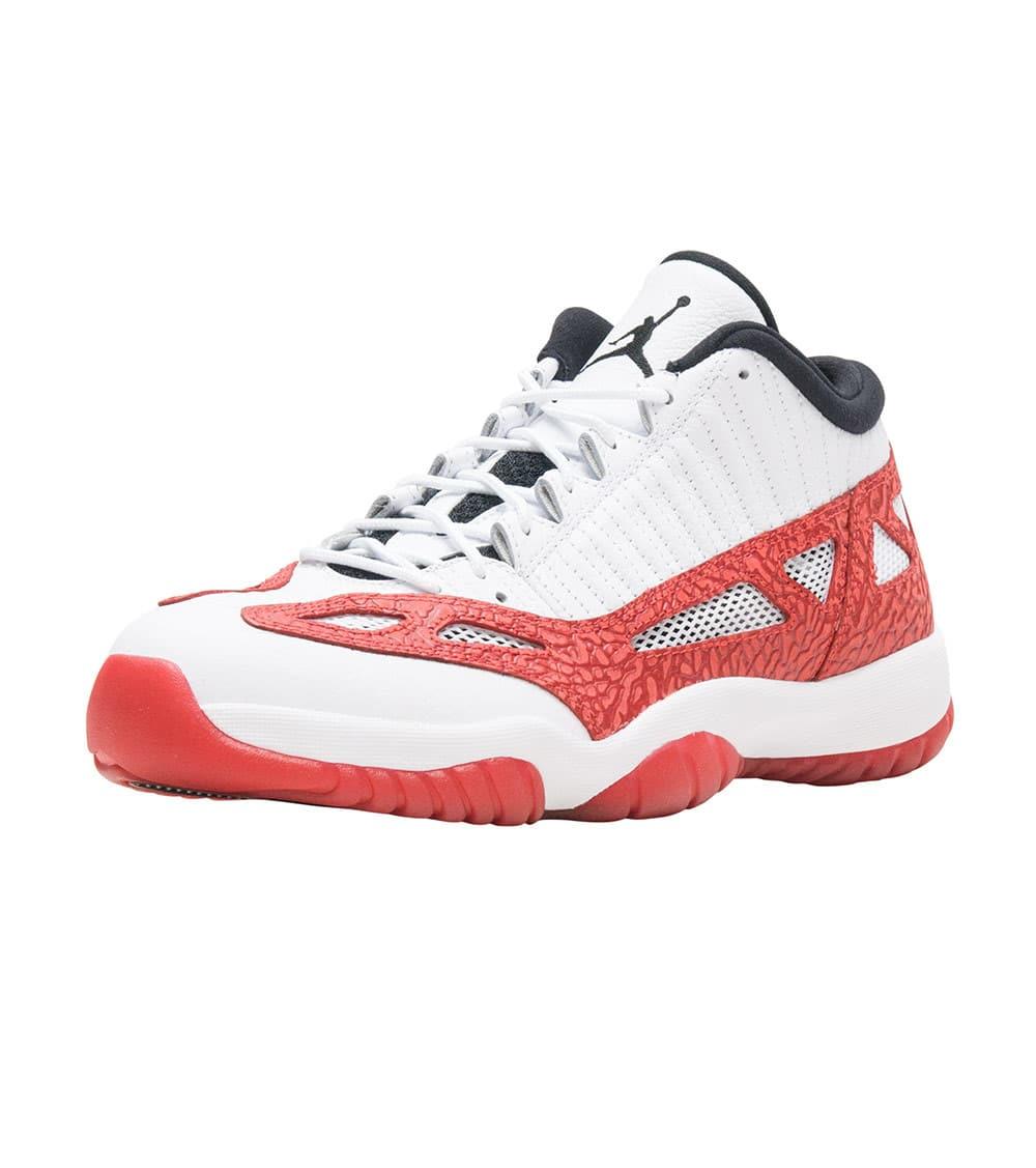 Nike Air Jordan 11 Retro Low IE Men's Shoes WhiteGym Red Black 919712 101
