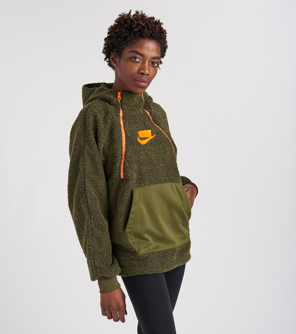 cost charm buy online lace up in Sherpa Pullover Hoodie