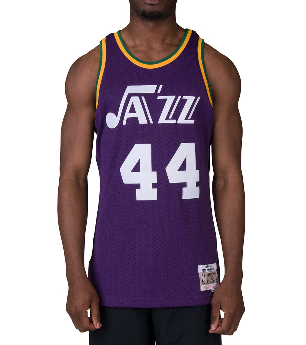 free shipping 87191 2a39f Utah Jazz 1974-75 Maravich Jersey