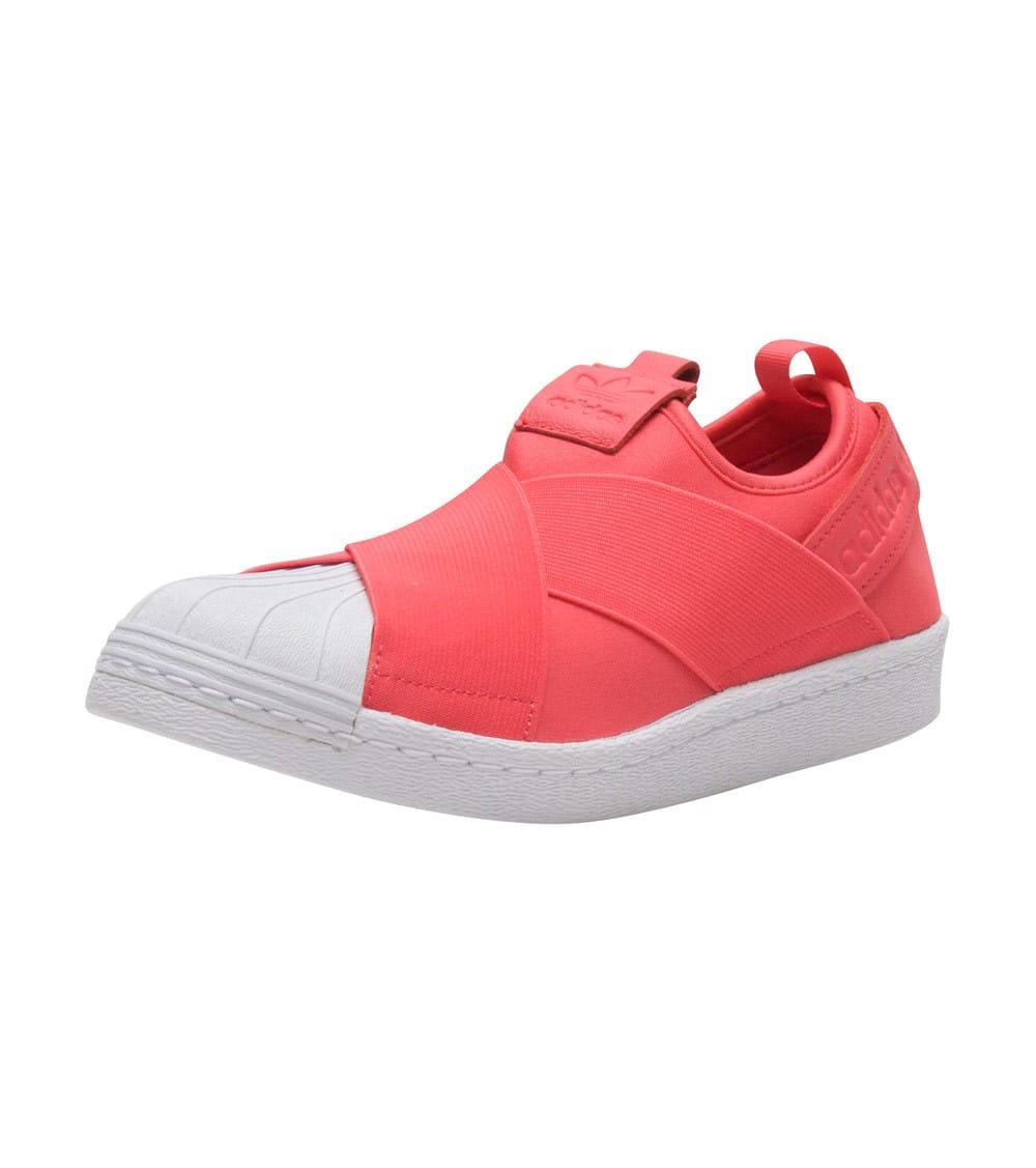 adidas superstar slip on pink