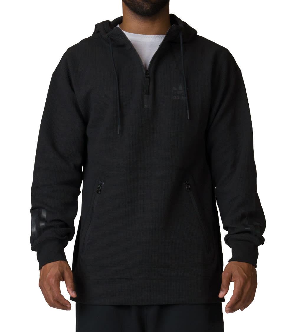 Good Looking Black For Men Adidas Pullover Hoodie Instinct