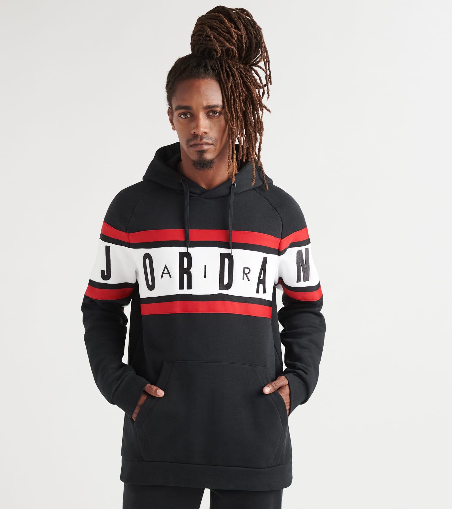 Jordan Air Gradient Fleece Pullover Hoodie (Black) BQ5651