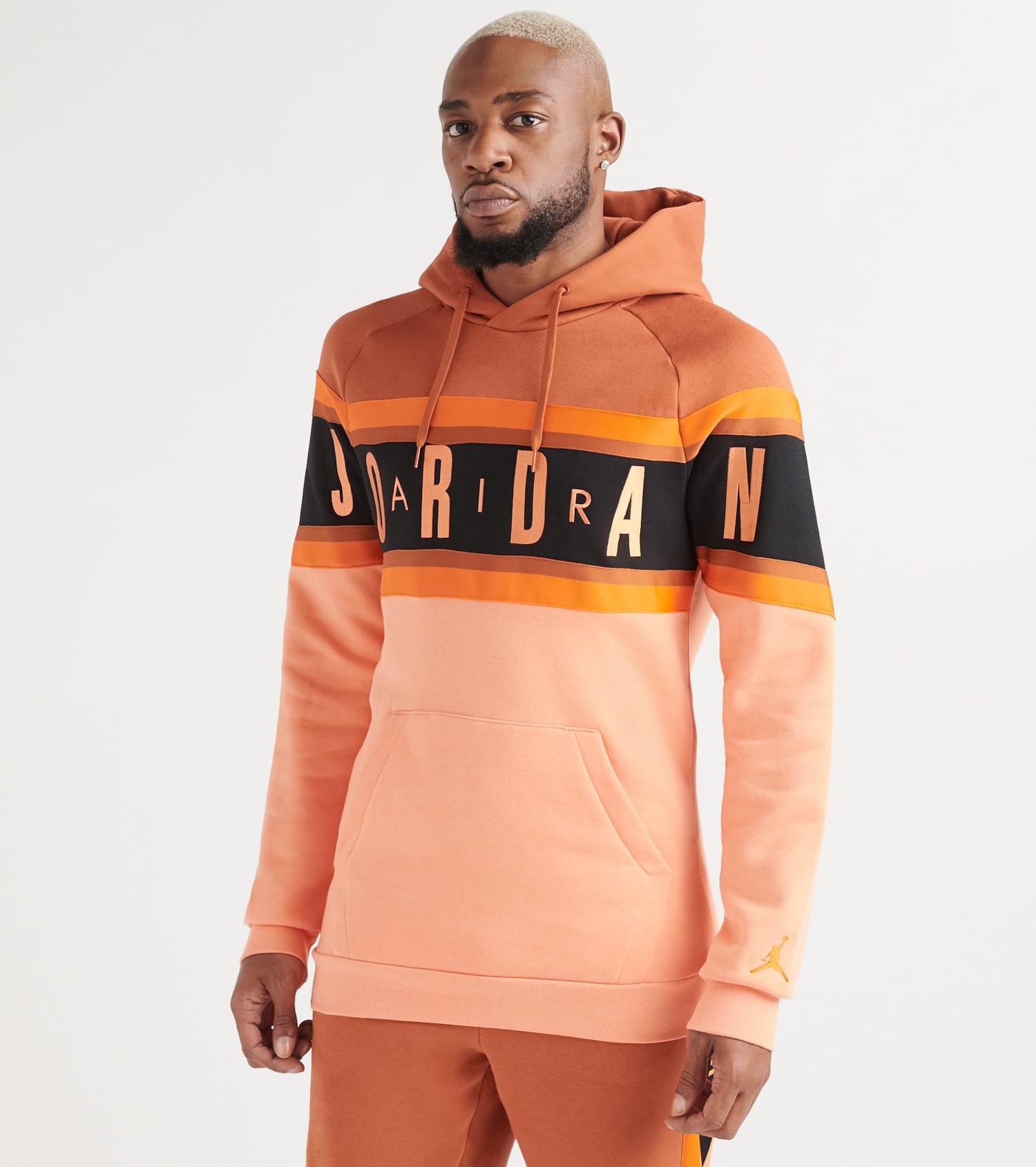 Jordan Air Gradient Fleece Pullover Hoodie (Orange) BQ5651