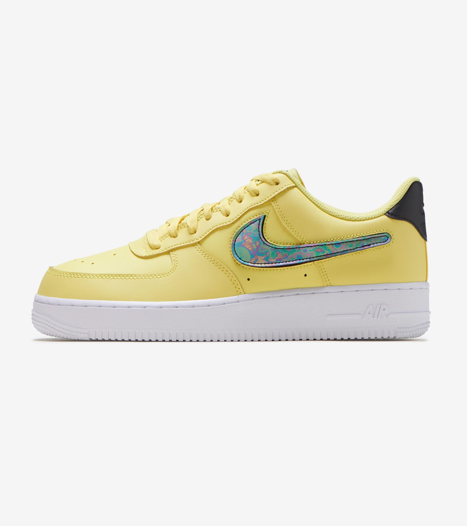2019 Nike Air Force 1 07 LV8 YellowBlack White CI0061 700