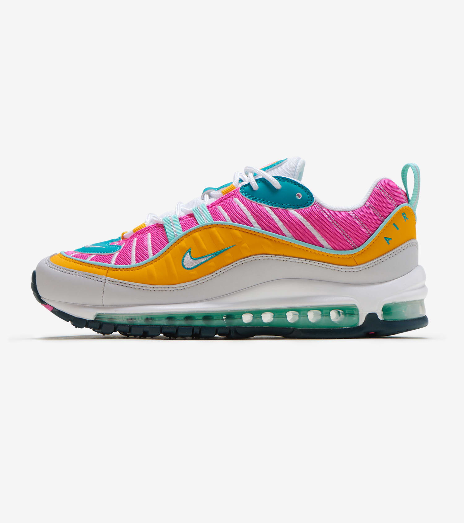 Nike Air Max 98 Trainers In white grey and pink