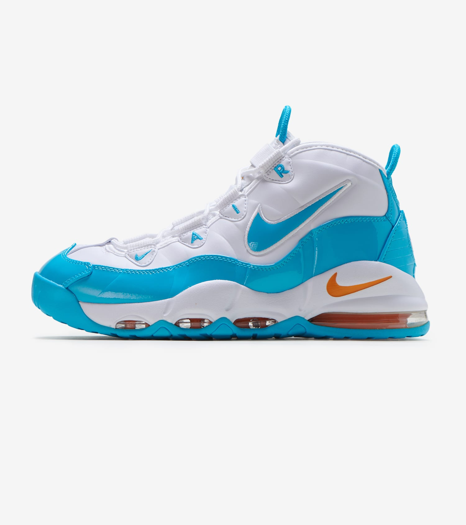 NIKE AIR DURATION Uptempo Herren Basketball Schuhe weiß blau
