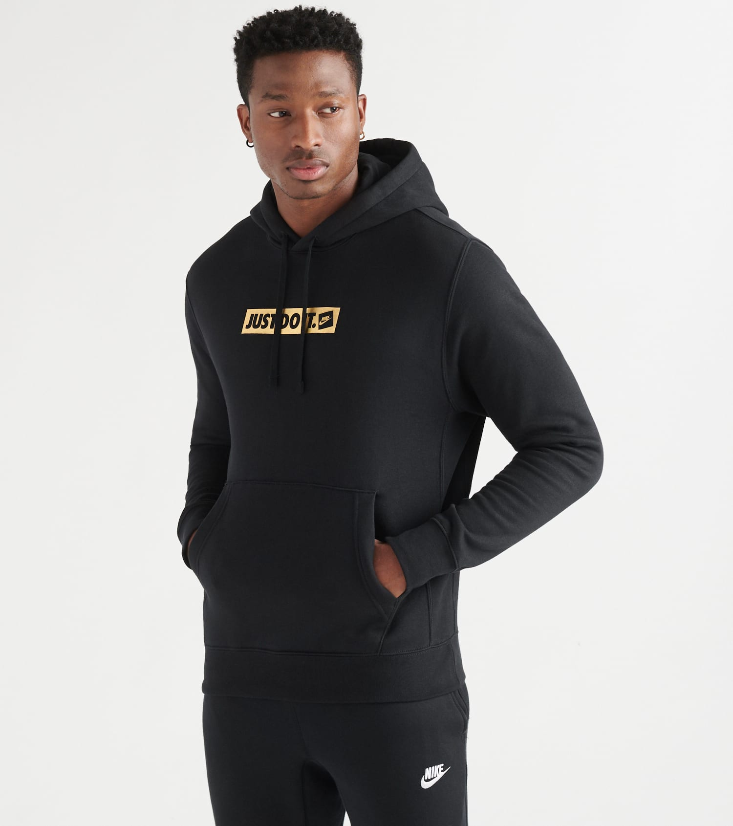 Nike NSW Just Do It Pullover Hoodie (Black) CQ4514 010