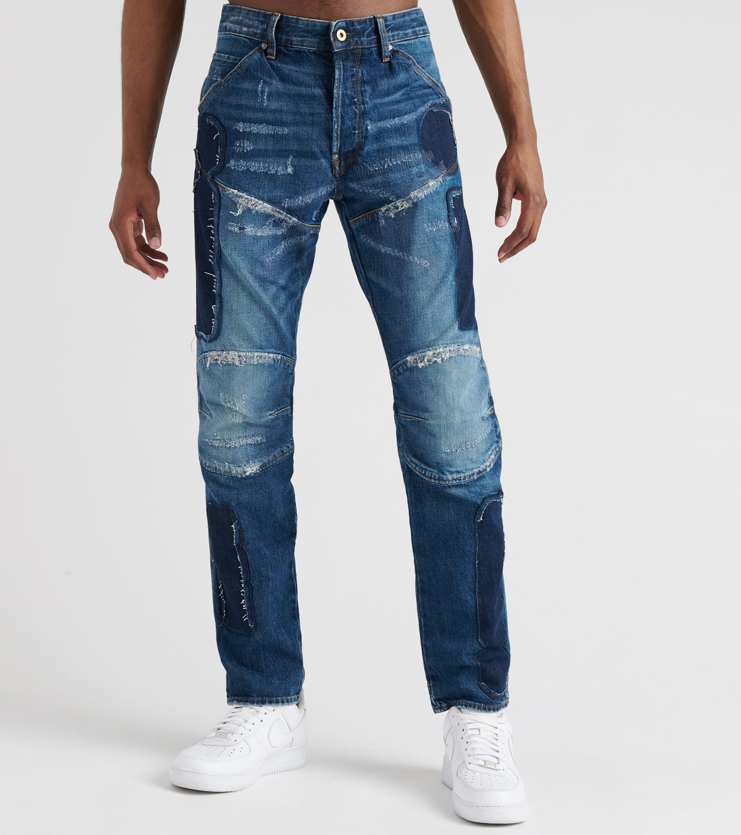 5620 3D Badges Straight Tapered Jeans