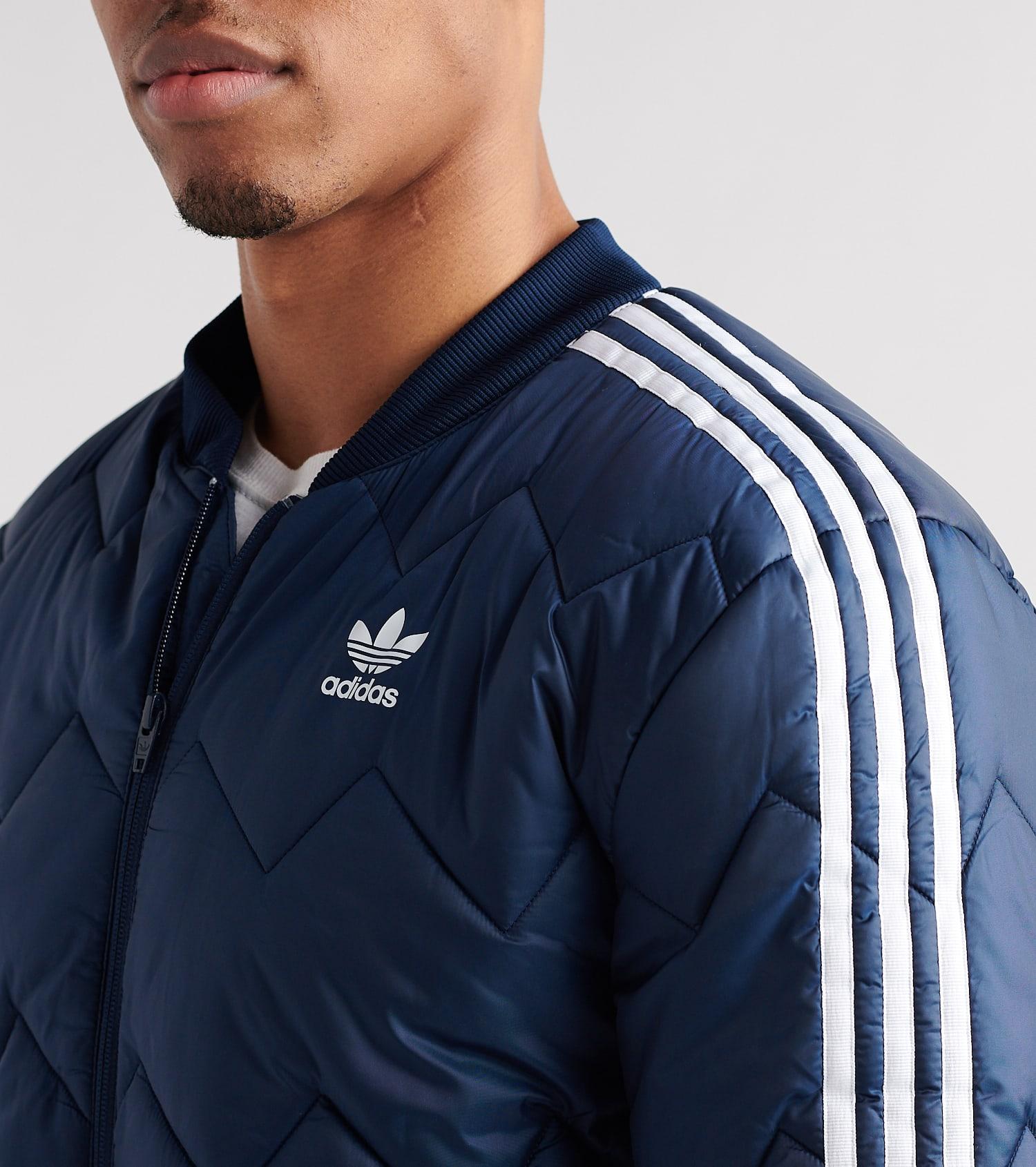 adidas Herren SST Quilted Jacke, Collegiate Navy, 2XL: Sport