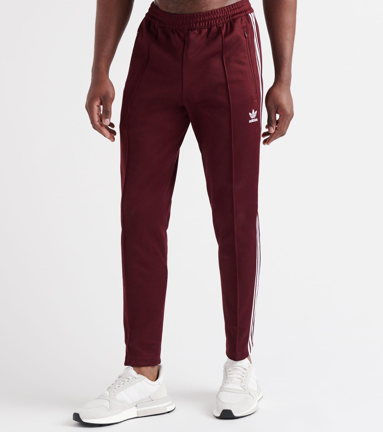 Details about Adidas Men Originals Beckenbauer Track Pants Maroon Training Running Pant DH5825