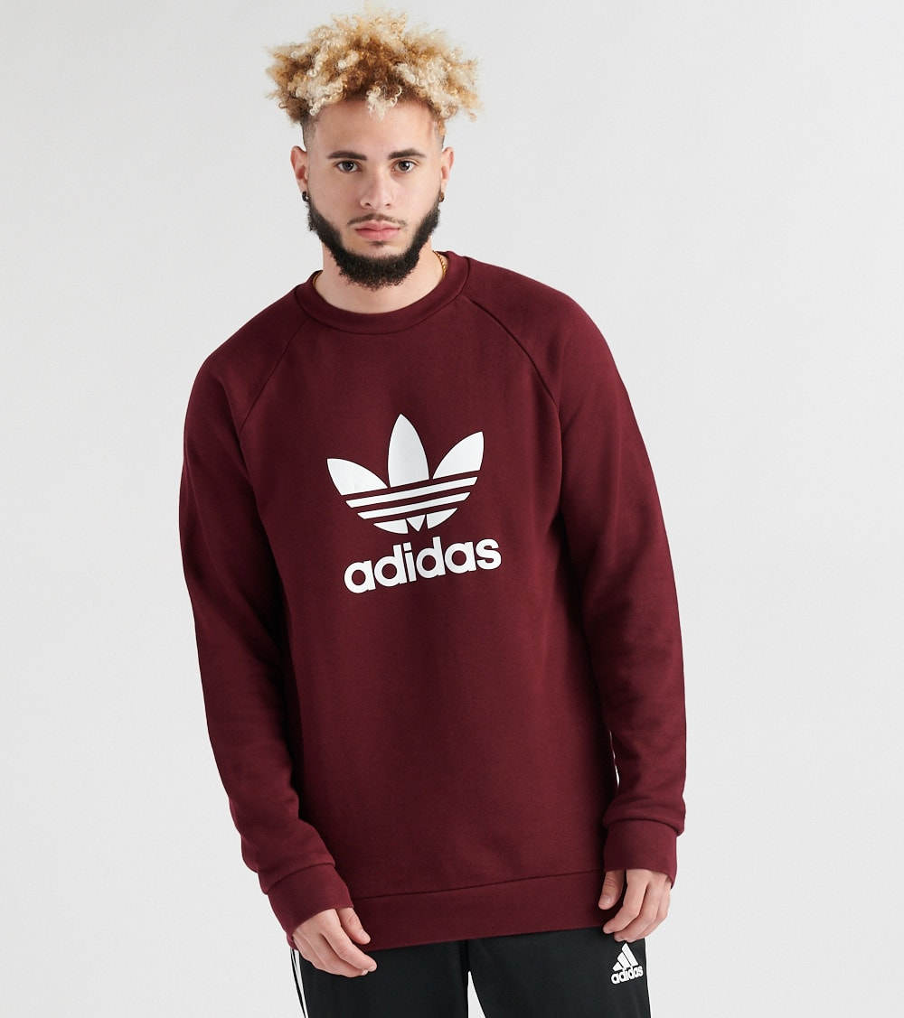burgundy Jimmy Sweatshirt Trefoil Jazz 610 Dm7835 Adidas