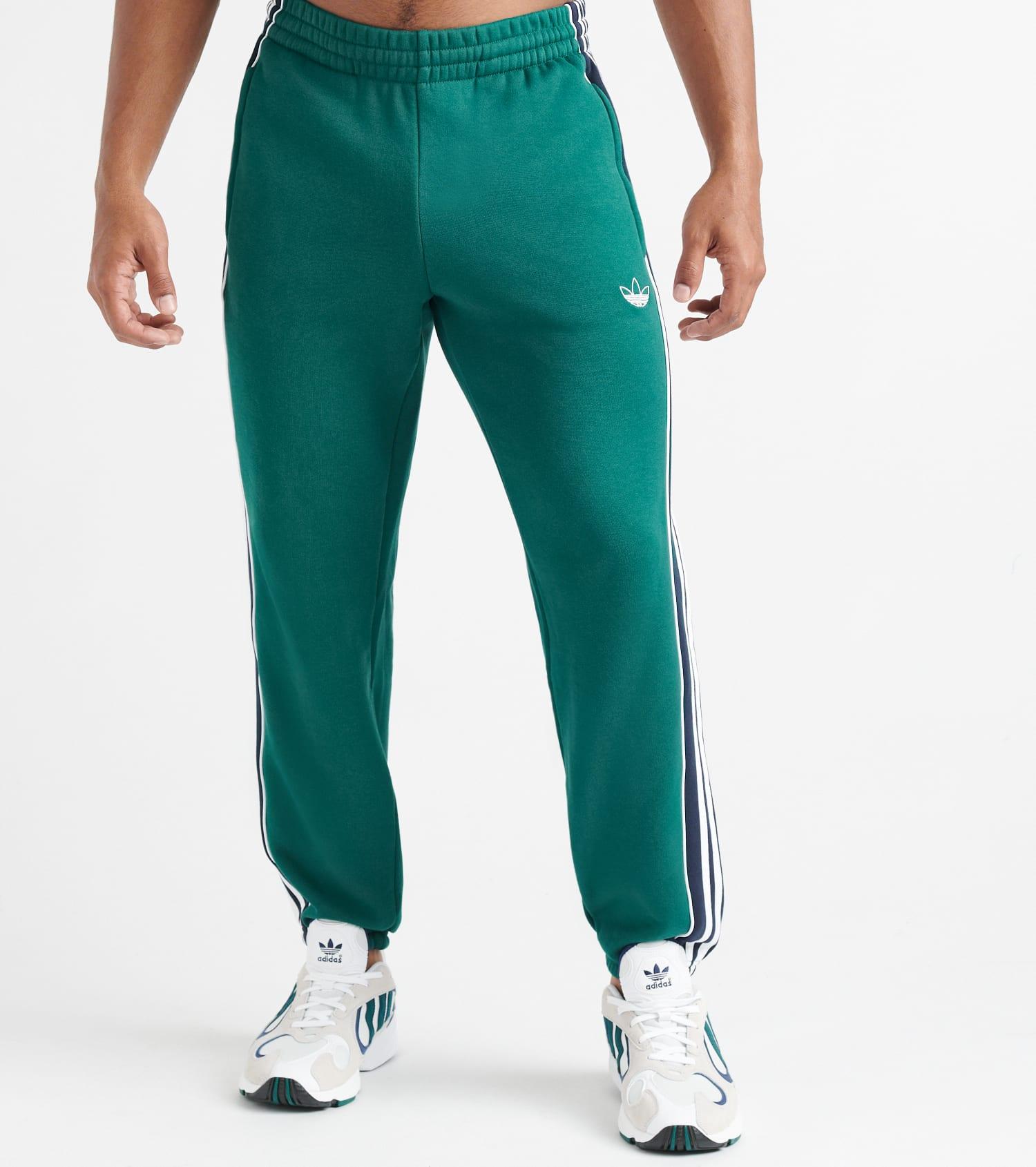 adidas 3 Stripe Panel training pants green   WeAre Shop