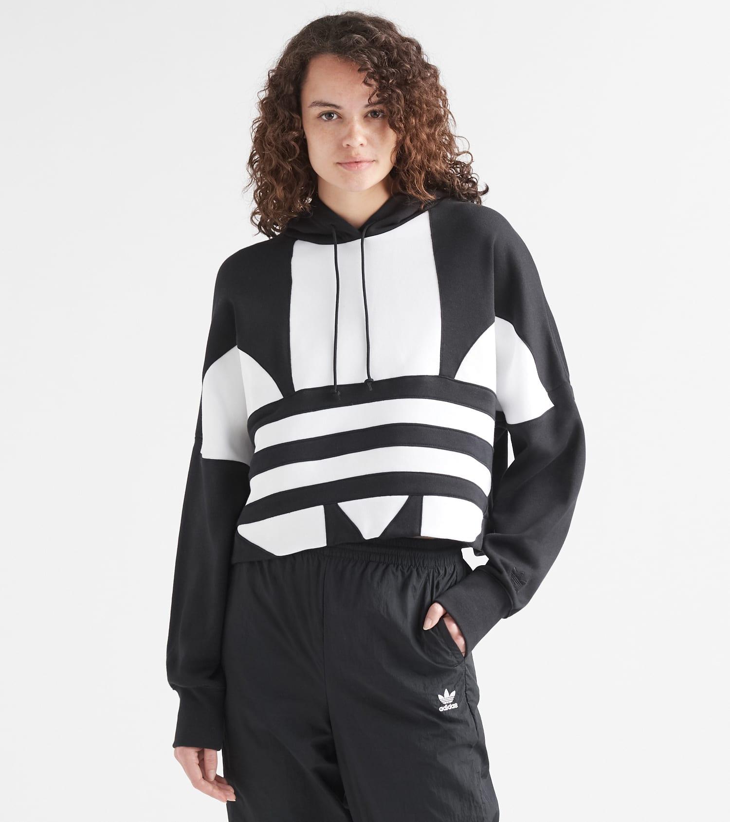 adidas schwarz weiss, adidas Trefoil Sweatshirt Damen