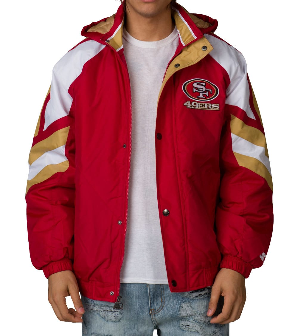 best service 7aa80 05371 NFL 49ERS PULLOVER JACKET