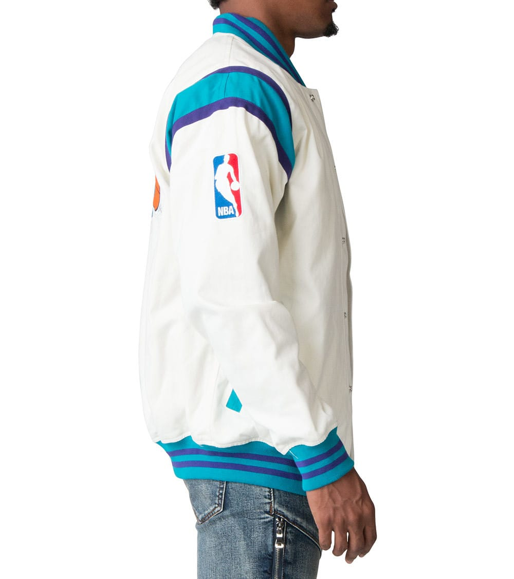 save off 1a58c 4b3ad Charlotte Hornets Twill Jacket