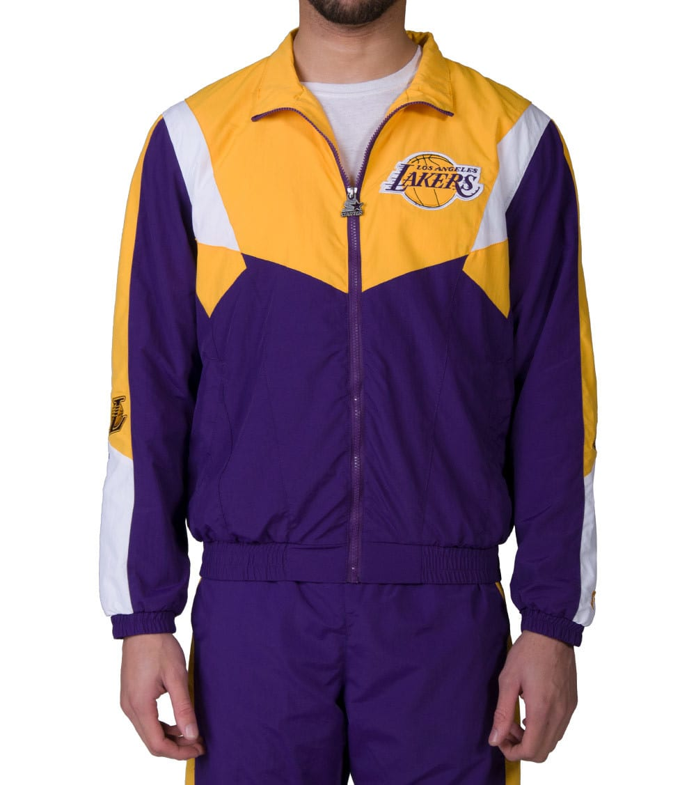 the latest f1a8a 3bccc LA Lakers Nylon Laker Track Jacket