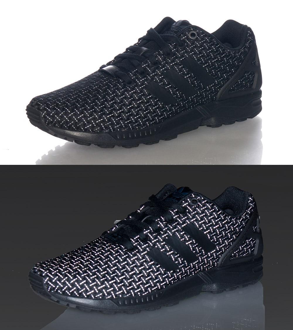 adidas zx flux woven 3m triple black