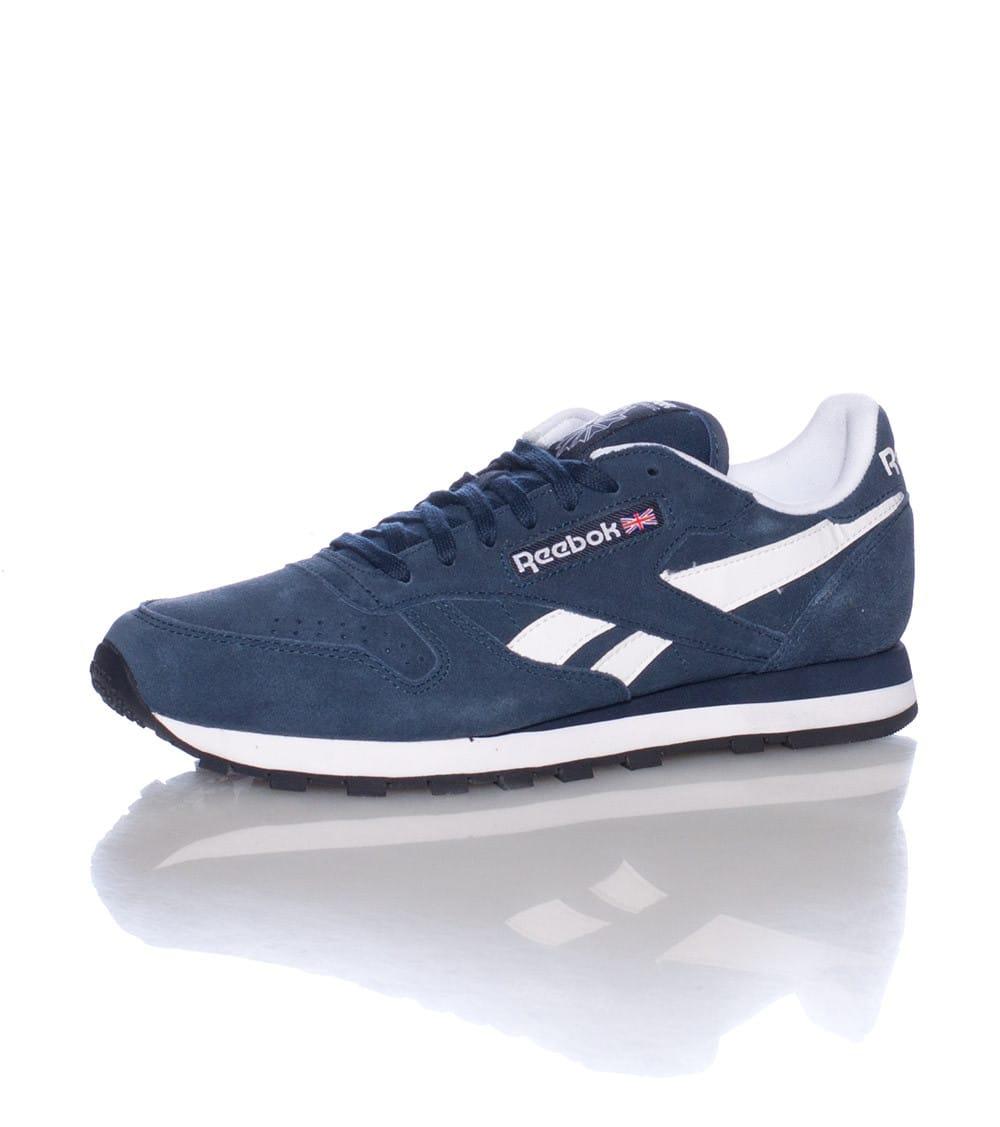 reebok classic navy blue
