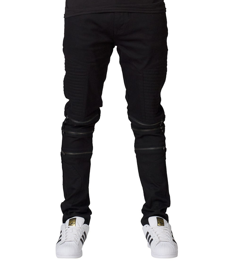 distinctive style new attractive style O KNEE ZIPPER DETAIL JEAN