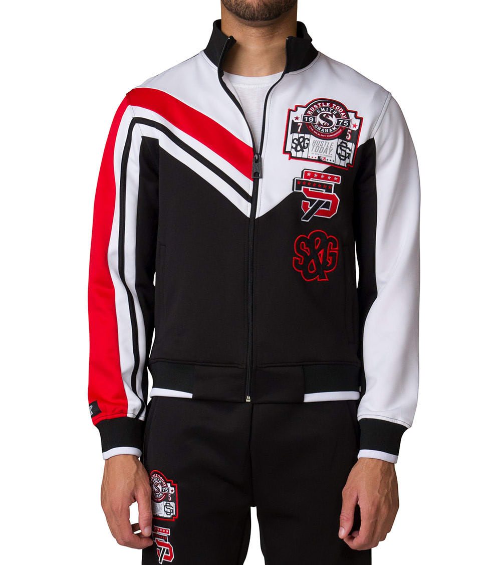 wholesale dealer bf40b 91ee6 75 Patched Track Jacket