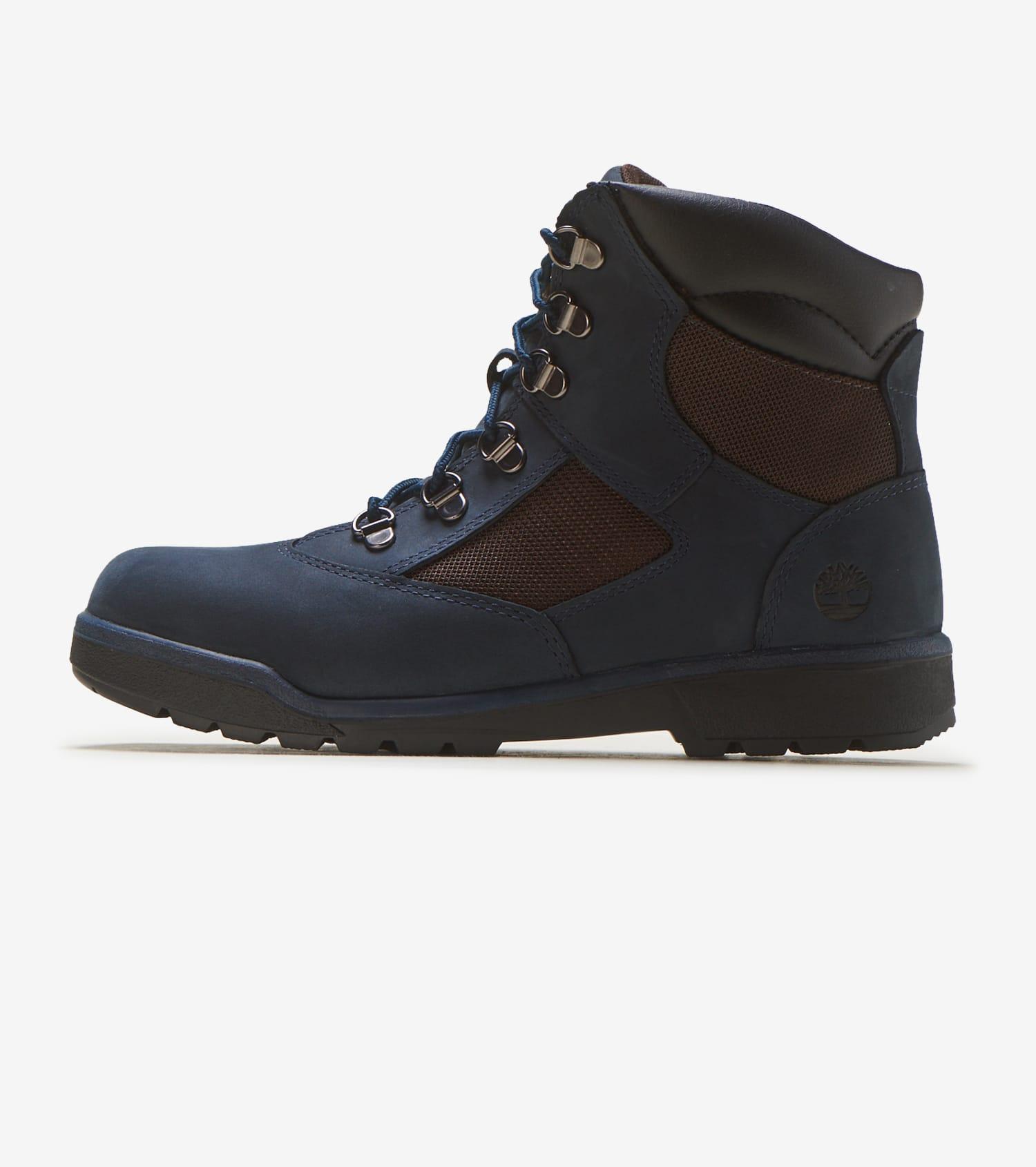 Timberland Grade School 6 Inch Field Boots (Dark Grey | Navy)