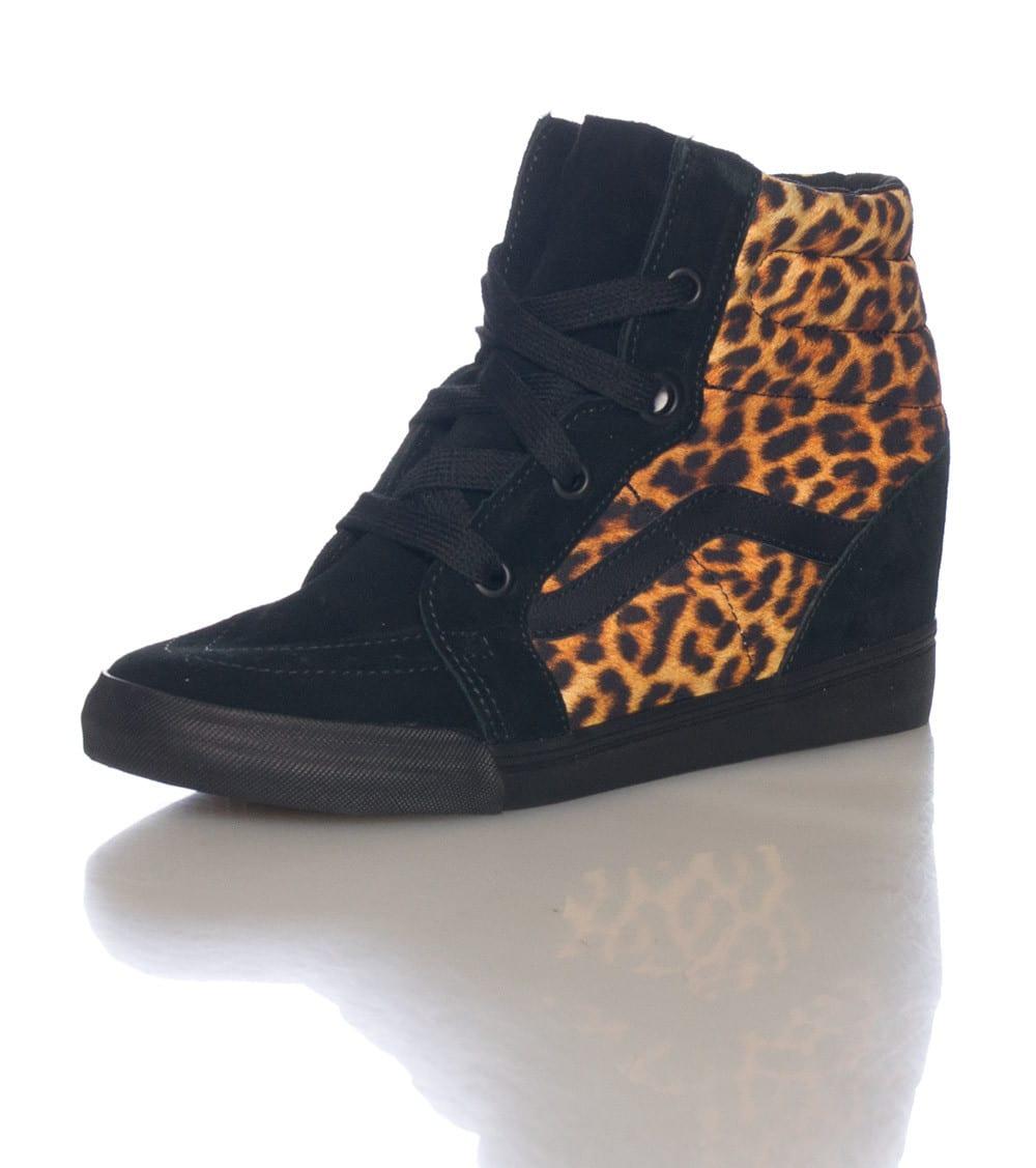 Vans All Black Sk8 Hi Wedge Sneakers