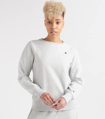 47013d9697a20 Champion Reverse Weave Crew Logo Sweatshirt