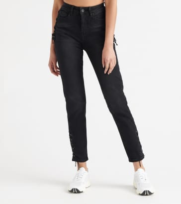 2bda9706617a8 Funky Soul Side-Drawstring Denim Jeans
