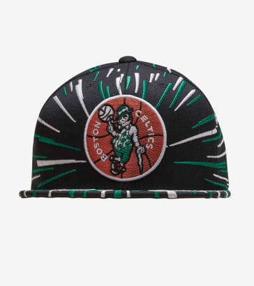 best website ec269 6ccf6 Mitchell and Ness Boston Celtics Nucleo Snapback