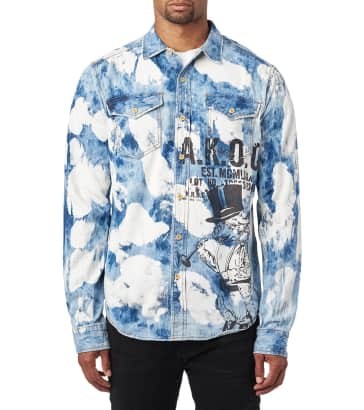 78740ef6b41 A.K.O.O. AKOO SLICK DENIM LS SHIRT