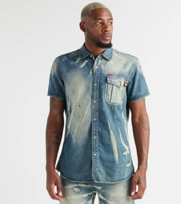 f62774a6fae664 A.K.O.O. Carbie Denim Button-Down Shirt