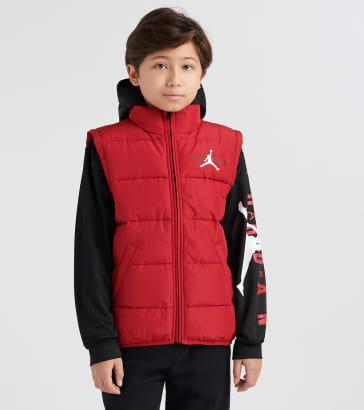 393bf05316a3 Jordan Boys 8-20 AJ HBR 2 Fer Puffer Jacket