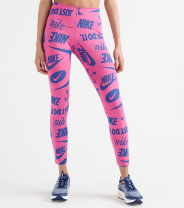 1ff90c571 Nike All-Over Print Legasee Logo Leggings