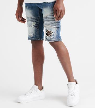 Decibel Stretch Moto Denim Shorts 849f7ff705f
