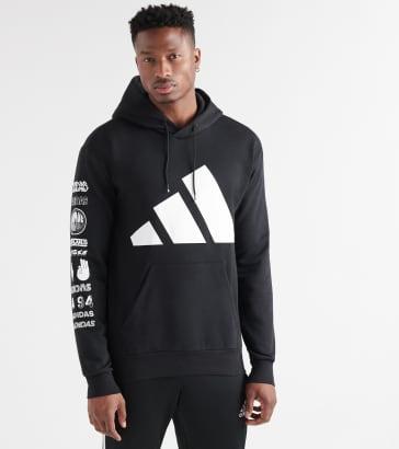 Adidas Asymm Block Hoodie (White) ED5600 001 | Jimmy Jazz