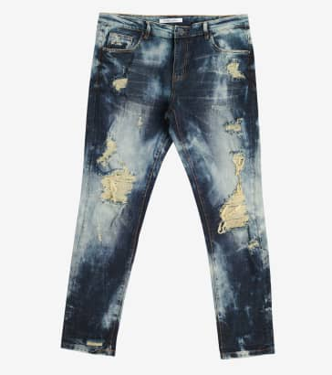 85318a1a Embellish Nitti Ripped Denim Jeans