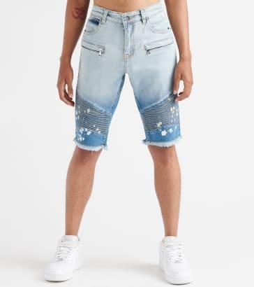 5f0aeb33c533 Embellish Hawk Biker Denim Shorts