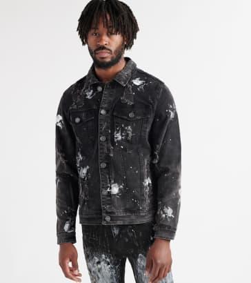 b9c60019e145 Embellish Calico Denim Jacket