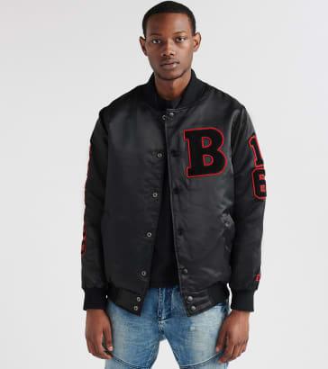 03b77466ebd Starter Bulls Chenille Patch Jacket